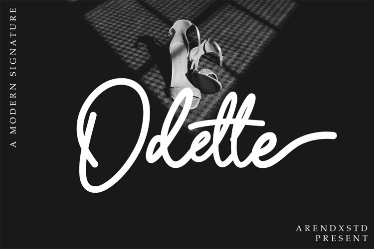 Odette Signature Font example image 1