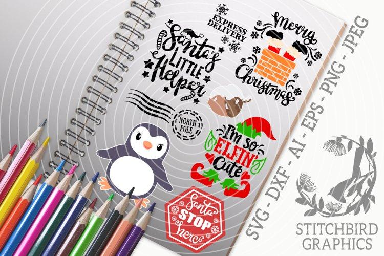 Kids Christmas Bundle SVG, Silhouette Studio, Cricut, Eps