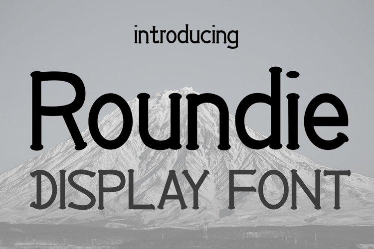 EP Roundie- Display Font example image 1
