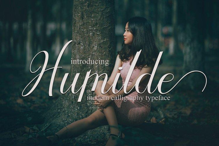 Humilde Script | web fonts