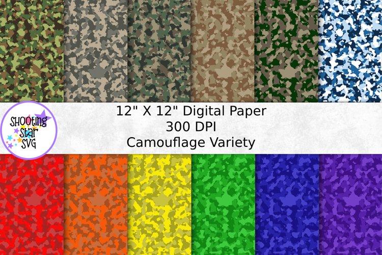 Camouflage Digital Paper - Camo Digital Paper
