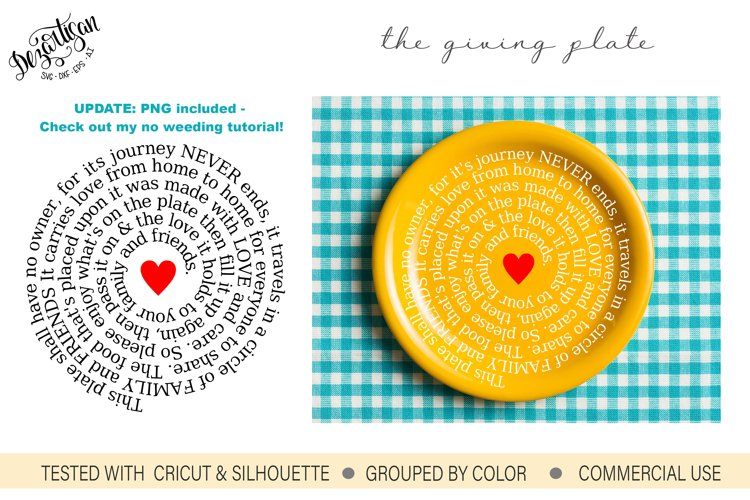 The Giving Plate SVG DXF Cut Ready Files