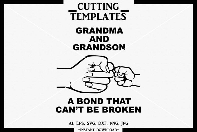 Grandma and Grandson SVG, Silhouette, Cricut, Cameo, DXF,PNG