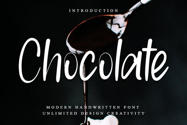 Chocolate - Modern Handwritten Font example image 1