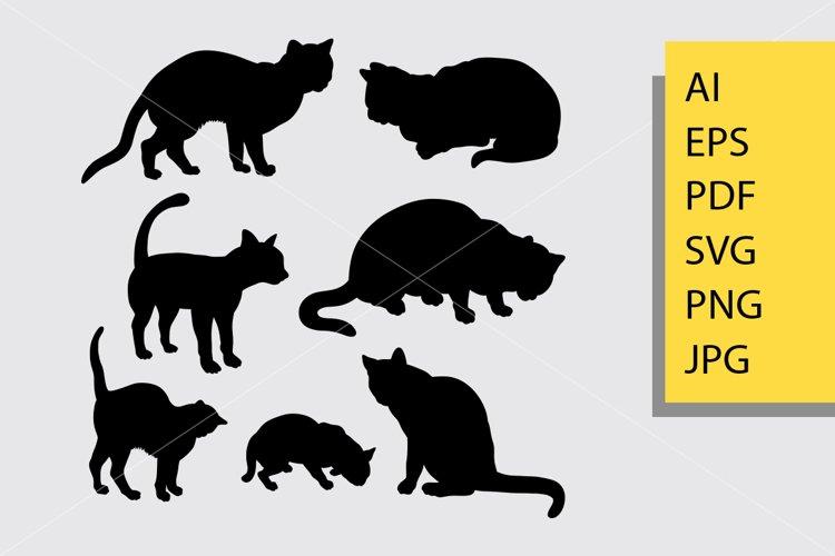 Cat pet animal silhouette example image 1
