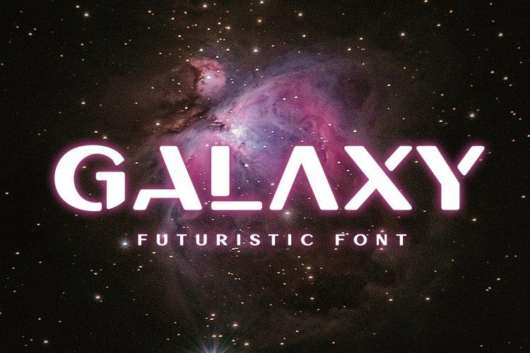 Galaxy - Unique Futuristic Font example image 1