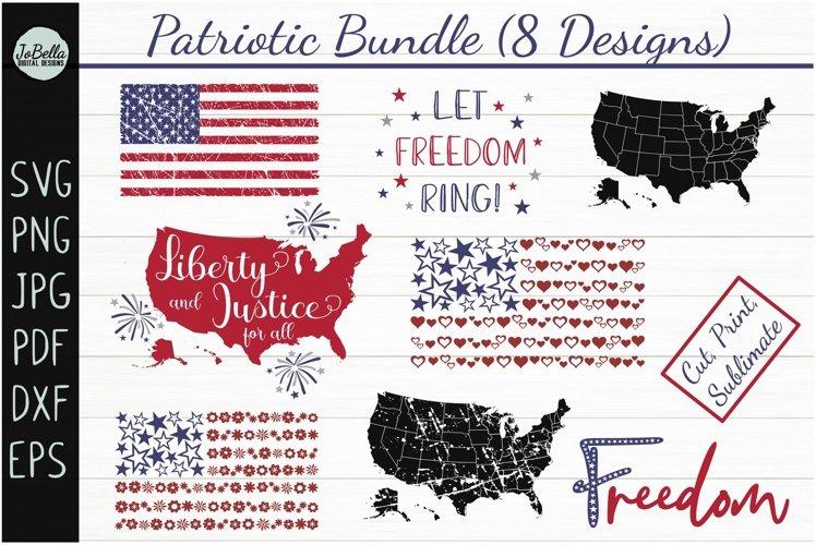 Patriotic SVG Bundle- July 4th Sublimation PNGs & Printables