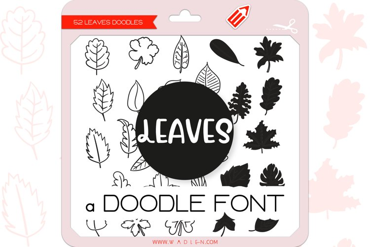 Leaves Doodles - Dingbats Font example image 1
