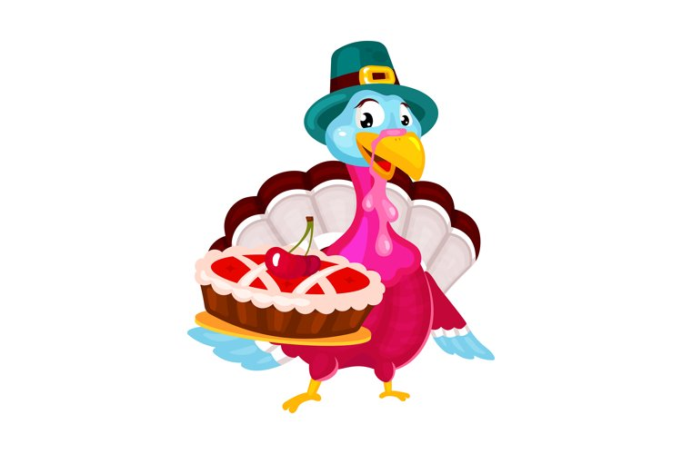 Thanksgiving day flat vector illustration example