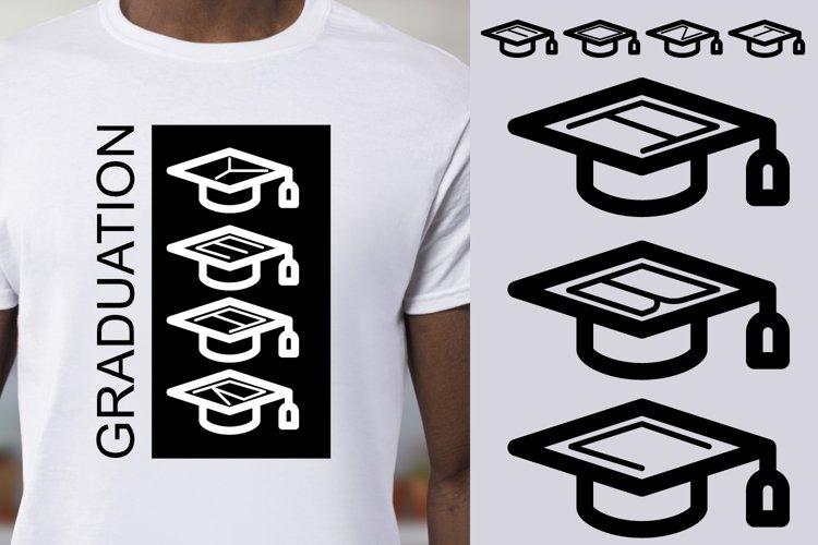 Graduation Cap Font example image 1