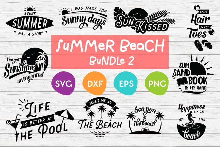 Summer Bundle SVG | Summer SVG Cut Files | Beach SVG