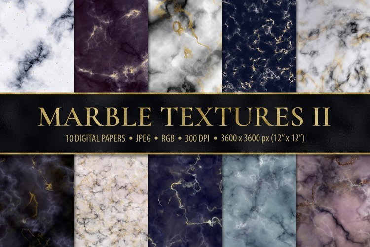 Marble Digital Papers - 10 Veined Marble Textures example