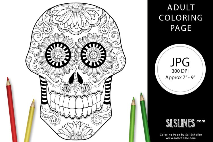Day of the Dead Adult Coloring Page