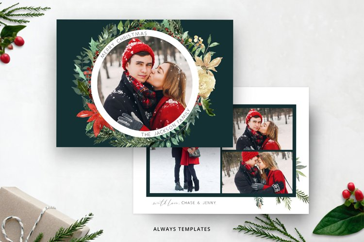 Christmas Card Template CC090 example image 1