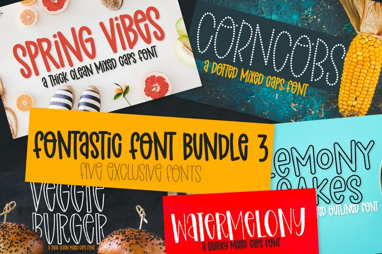 A Fontastic Bundle - Volume 3 - 5 New Fonts!