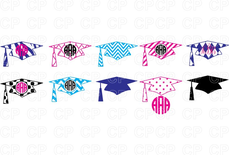 Graduation Bundle Hat SVG Cut Files, Graduation Clipart