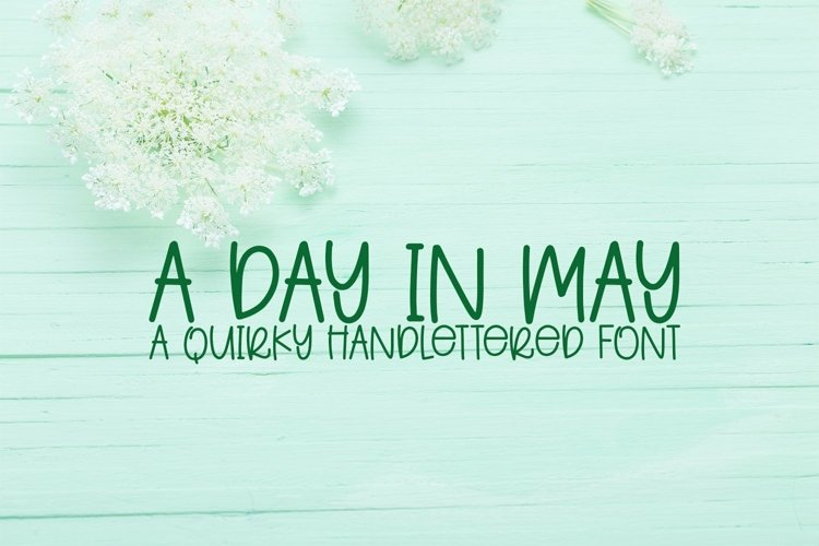 Web Font A Day In May - A Quirky Handlettered Font example image 1