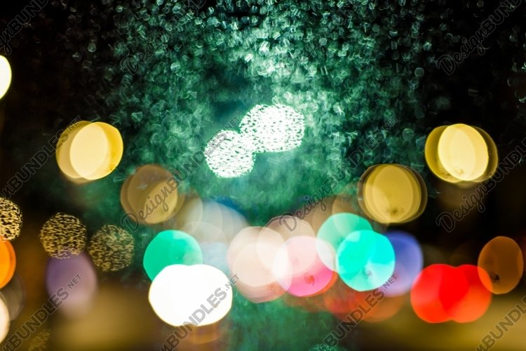 gorgeous bokeh, night of bright city lights and reflections example image 1