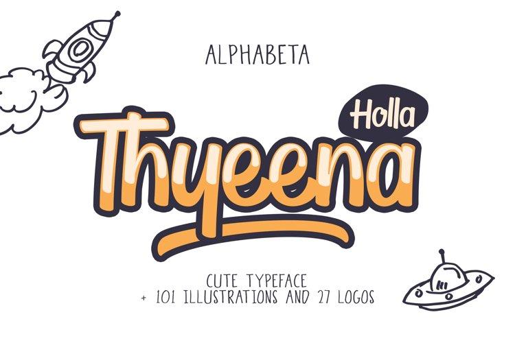 Thyeena Fonts   Illustration