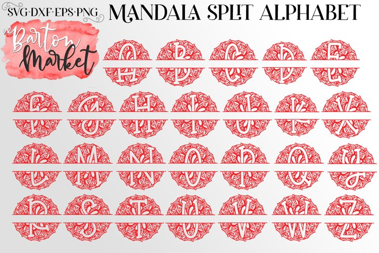 Mandala Split Letters Bundle for Crafters example 4