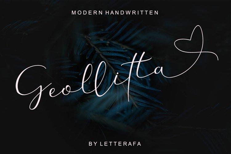 Geollitta -Modern Handwritten example image 1