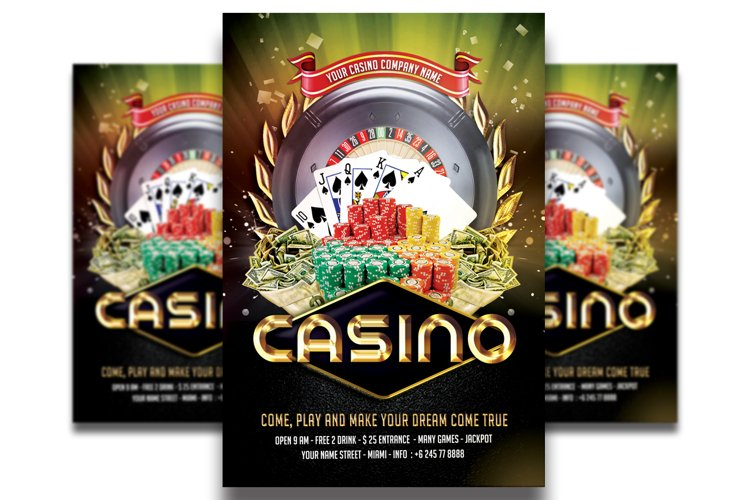 Casino Flyer Template #4 example image 1