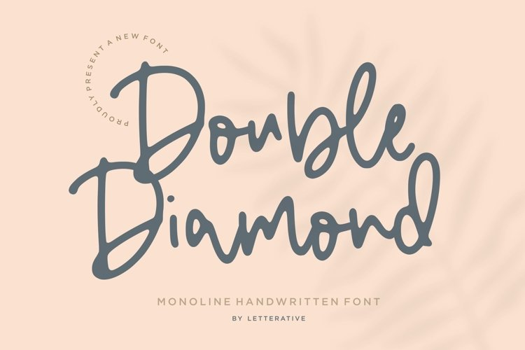 Double Diamond Monoline Handwritten Font example image 1