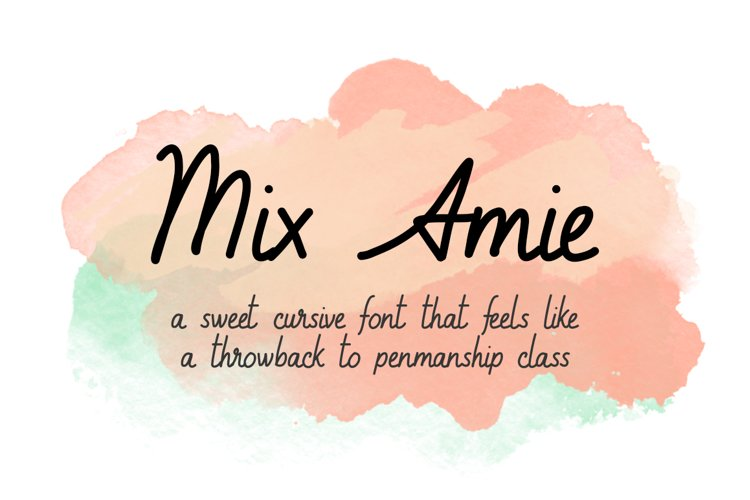 Amie - a sweet, handwritten, cursive font example image 1
