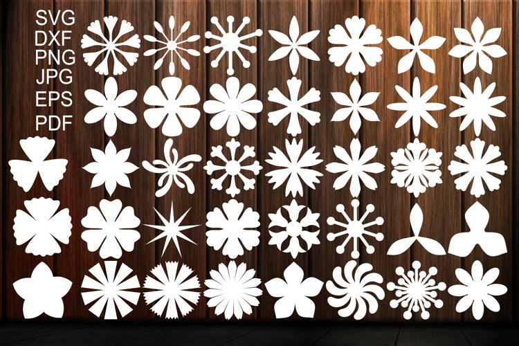Paper Flower Templates SVG, Flower Center SVG, Origami example image 1