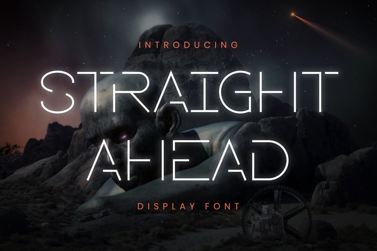Straight Ahead Font example image 1