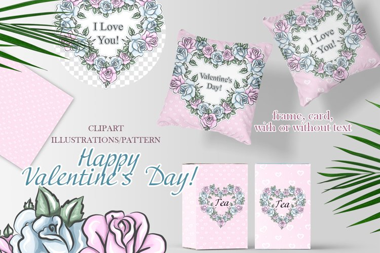 Illustration with hearts. Valentine's day background example image 1