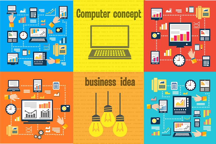 Business Laptop computer concept example image 1