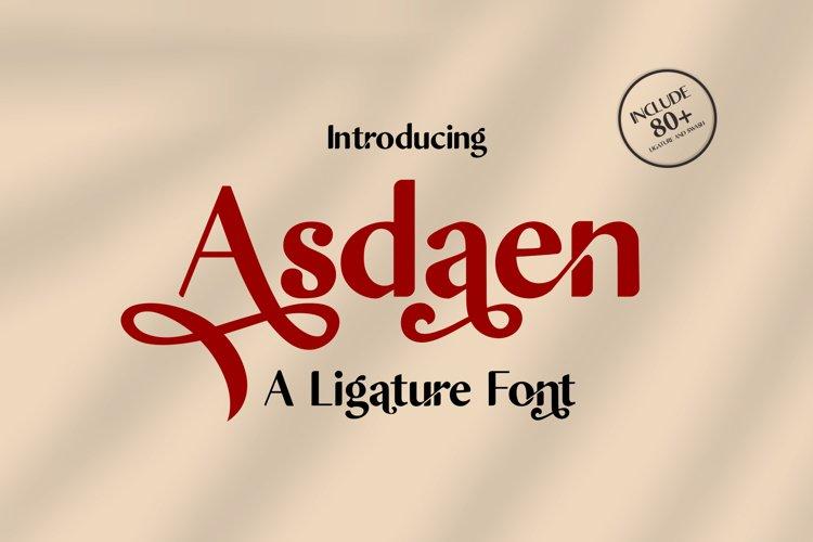 Asdaen Ligature