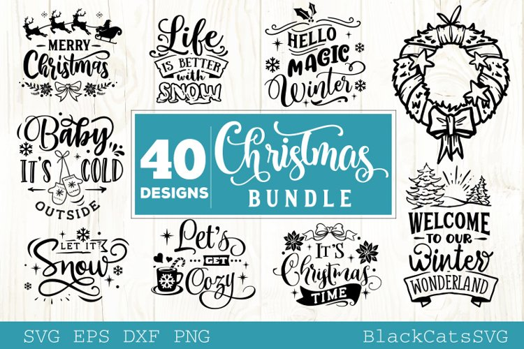 Christmas Bundle SVG bundle 40 designs vol 2 Winter SVG
