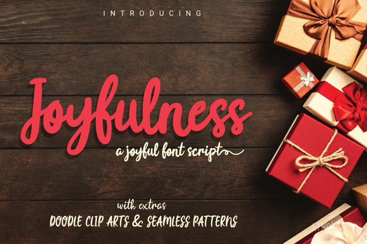 Joyfulness Script Font with Extras