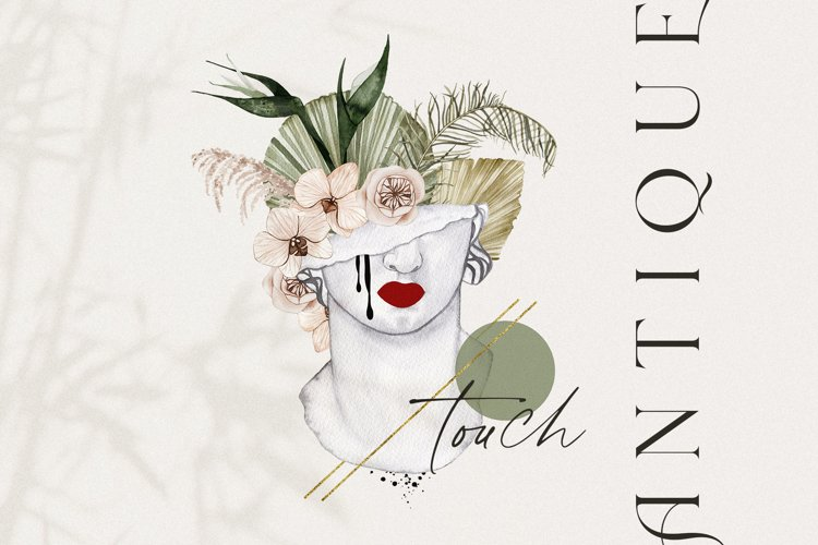 Antique touch - watercolor aesthetic