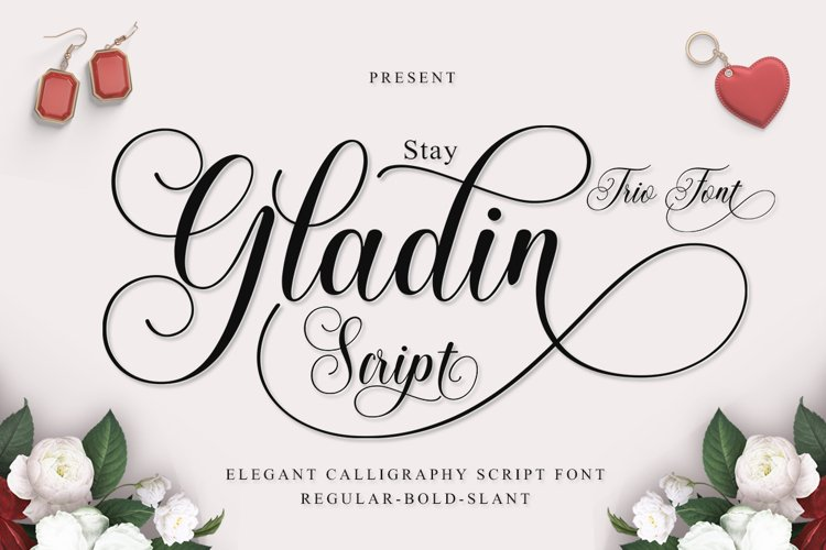 Stay Gladin Script Font Trio. example image 1