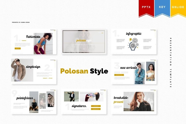 Polosan Style   Powerpoint, Keynote, GoogleSlides Template example image 1