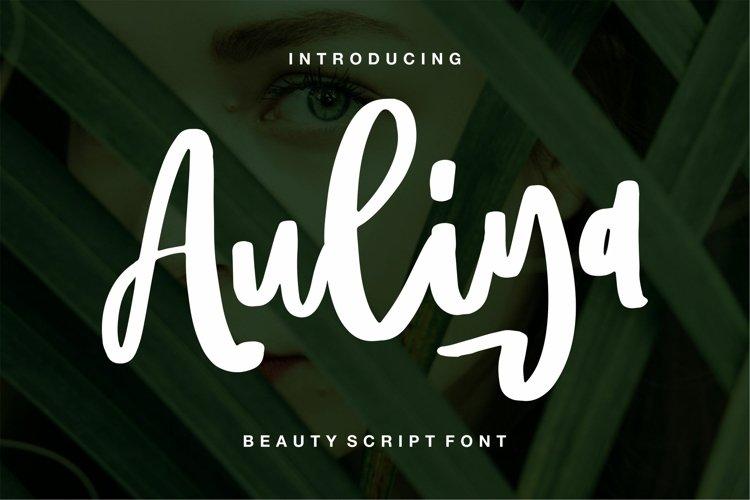 Aulia - Beauty Script Font example image 1