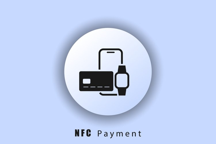 NFC payment icon. Contactless card payment systems. smartpho