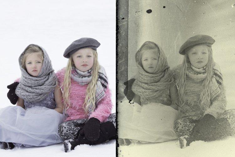 Vintage Old Photo Effect Overlays - Free Design of The Week Design3