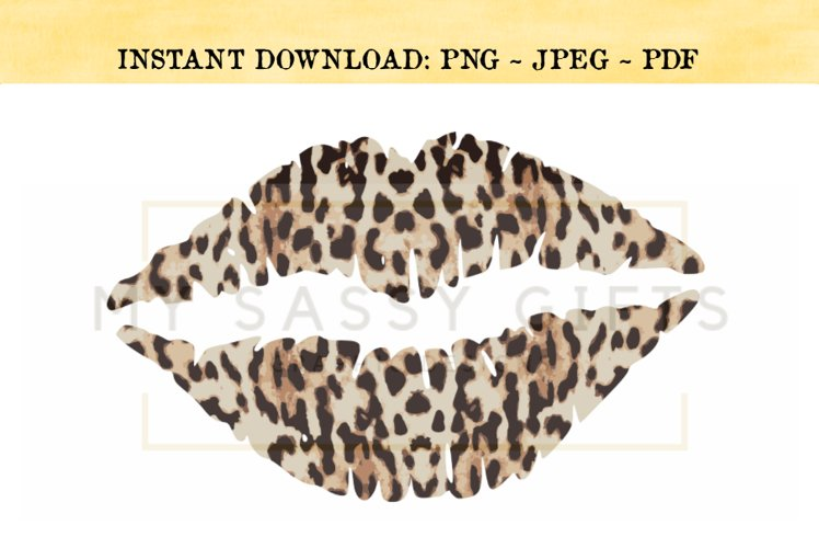 Lips Or Kiss Leopard Print and Southwestern PNG example image 1