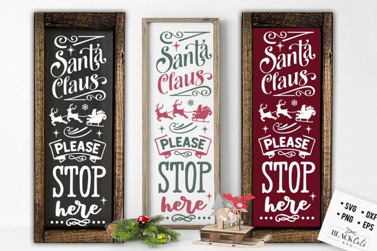 Christmas porch sign SVG Long sign Santa SVG example image 1