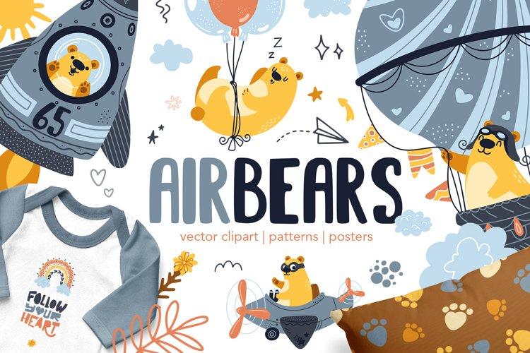 Air Bears vector clipart
