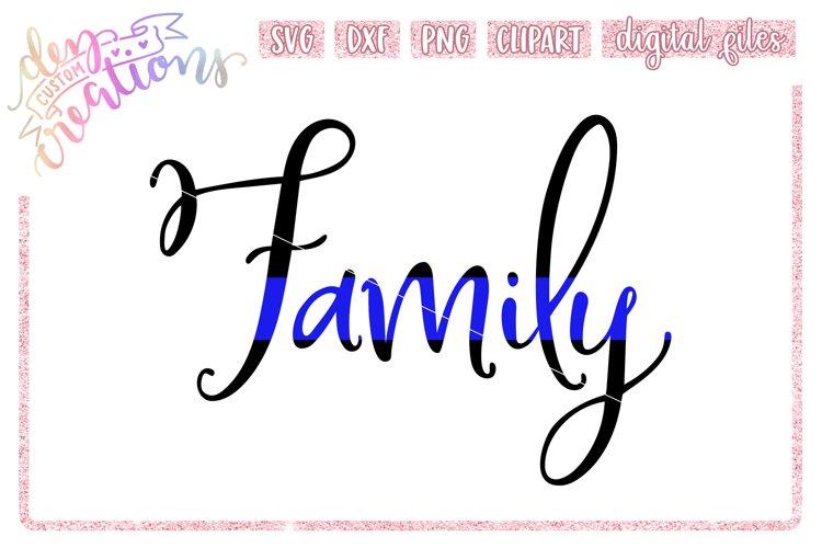Thin Blue Line Family - SVG digital Cut File