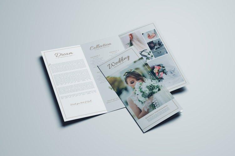 Wedding Business Trifold Brochure Design Template