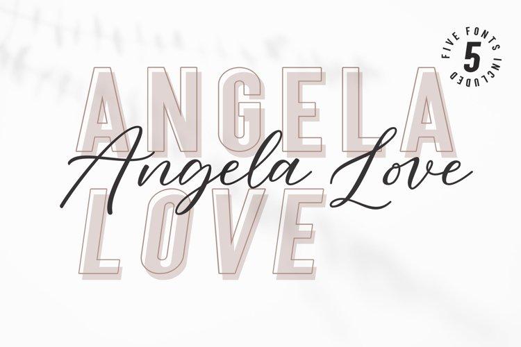 Angela Love Script & Sans example image 1