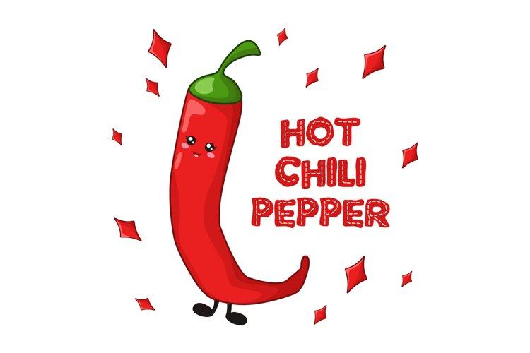 Hot chili pepper - kawaii example image 1