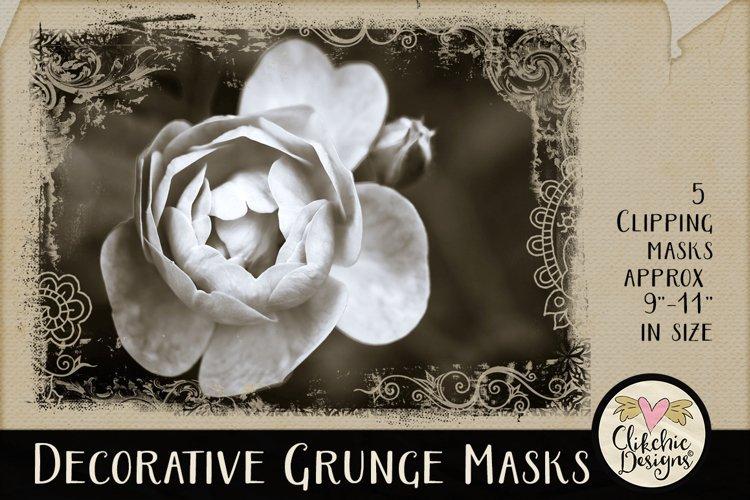 Decorative Grunge Photoshop Clipping Masks & Tutorial example image 1