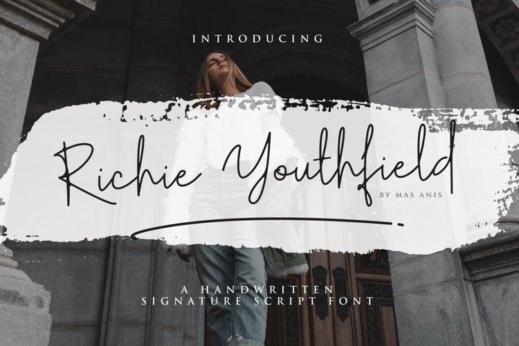Richie Youthfield - Signature Font example image 1